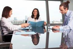 Beoordeling van werknemer Stock Foto