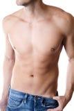 Bepaald mannelijk lichaam royalty-vrije stock foto's