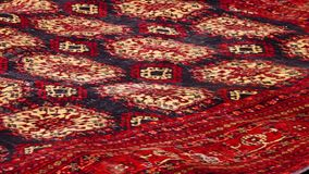 Bepaald rood tapijt stock footage