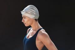 Bepaalde jonge vrouwelijke zwemmer Royalty-vrije Stock Foto's