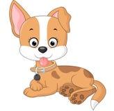 Bepaalt de beeldverhaal grappige hond vector illustratie