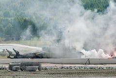 Bepansrad deminer BMR-3M i handling Ryssland Arkivfoto