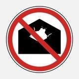 Beperk teken geen de gehechtheidsdossier van het malwarevirus e-mail Belemmer s Stock Foto's