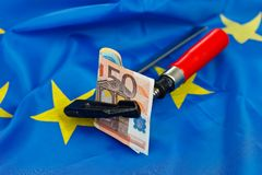 Beperkingen in de Europese Unie Stock Fotografie
