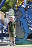 Beperkingen op de groei in een pretpark van kinderen royalty-vrije stock foto's