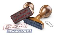 Beperkte Informatie, Vertrouwelijke Gegevens Stock Afbeelding