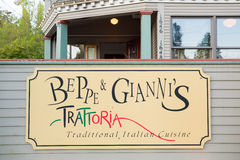 Beppe and Giannis Italian Restaurant Royalty Free Stock Images