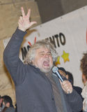 Beppe Grillo angry,screaming, stock images