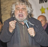 Beppe Grillo angry,screaming,on stage, royalty free stock photos
