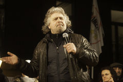 Beppe Grillo, during an election rally. Stock Image