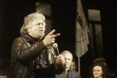 Beppe Grillo, during an election rally. Royalty Free Stock Images