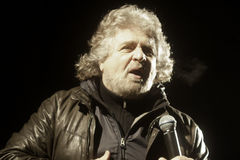 Beppe Grillo, during an election rally. Royalty Free Stock Photography