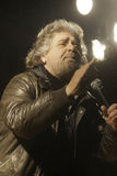 Beppe Grillo, during an election rally. Royalty Free Stock Photo