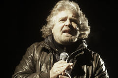 Beppe Grillo, during an election rally. Royalty Free Stock Photos