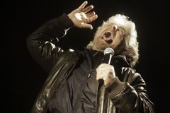 Beppe Grillo, during an election rally. Royalty Free Stock Image