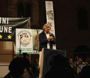 Beppe Grillo en Pavía Fotos de archivo libres de regalías