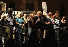Beppe Grillo en Pavía Foto de archivo libre de regalías