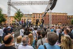 Beppe Grillo habla en Bolonia M5S Fotos de archivo