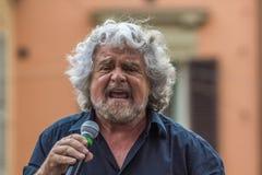 Beppe Grillo habla en Bolonia M5S Fotografía de archivo