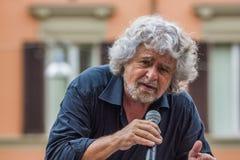 Beppe Grillo habla en Bolonia M5S Imágenes de archivo libres de regalías