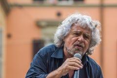 Beppe Grillo habla en Bolonia M5S Fotos de archivo libres de regalías