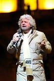 Beppe Grillo i Milan - Februari 2013 Royaltyfri Bild