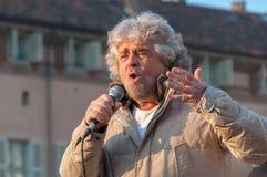 Beppe Grillo, Italiaanse politicus royalty-vrije stock foto