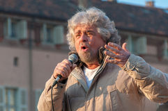 Beppe Grillo, italian politician Royalty Free Stock Photo