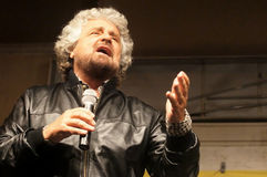 Beppe Grillo movement five stars Royalty Free Stock Photography