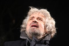 Beppe Grillo movement five stars stock images