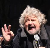 Beppe Grillo movement five stars Stock Photography