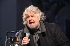 Beppe Grillo movement five stars royalty free stock photo