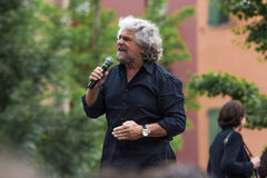 Beppe Grillo speak in Bologna M5S Royalty Free Stock Image