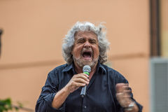 Beppe Grillo  M5S. Beppe Grillo speak in Bologna (Italy Stock Image
