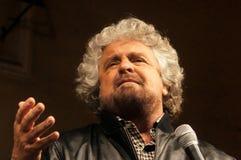 Beppe Grillo Sterne der Bewegung fünf Lizenzfreies Stockbild