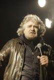 Beppe Grillo under ett val samlar Royaltyfri Fotografi