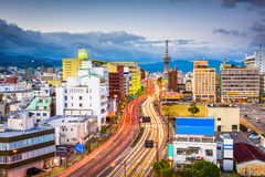 Beppu, Oita, Japan Skyline Stock Photography