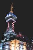 Beppu torn 10 Januari: Beppu torn i Oita på natten på 10 Januari 2016 Royaltyfri Fotografi