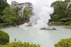 Beppu White Pool Hell Stock Photo