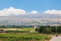 Beqaa (Bekaa) Vallei, Baalbeck in Libanon Royalty-vrije Stock Foto's
