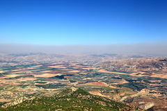 Beqaa Valley, Lebanon. The Beqaa Valley in central Lebanon Stock Image