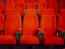 Bequeme rote Sitze Stockfotos