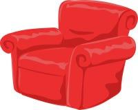 Bequemer roter Stuhl Stockbild