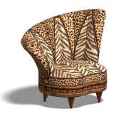 Bequemer Stuhl mit afrikanischer Auslegung Stockfoto