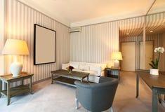 Bequemes klassisches Wohnzimmer lizenzfreies stockbild