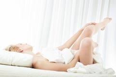 Bequemlichkeit im Schlafzimmer Lizenzfreies Stockbild