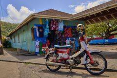 Bequia, St Vincent and the Grenadines Local transport and crafts