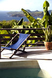 Bequia villa pool view grenadine island Stock Photos