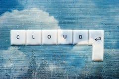Beräknande bakgrundsabstrakt begrepp för moln Arkivbild