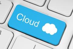 Beräknande begrepp för moln Arkivfoto